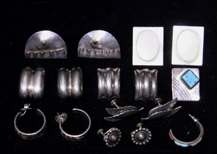 Assorted Sterling & Silver Earrings