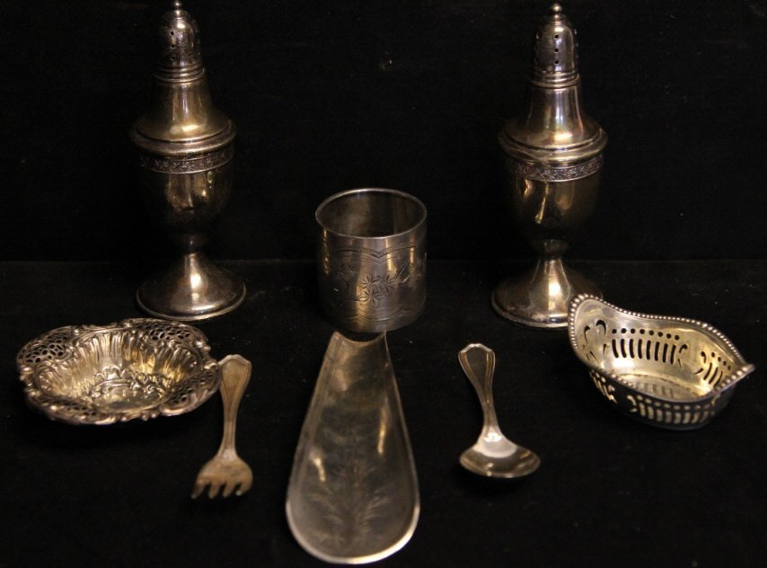 Assorted Antique Sterling Silver