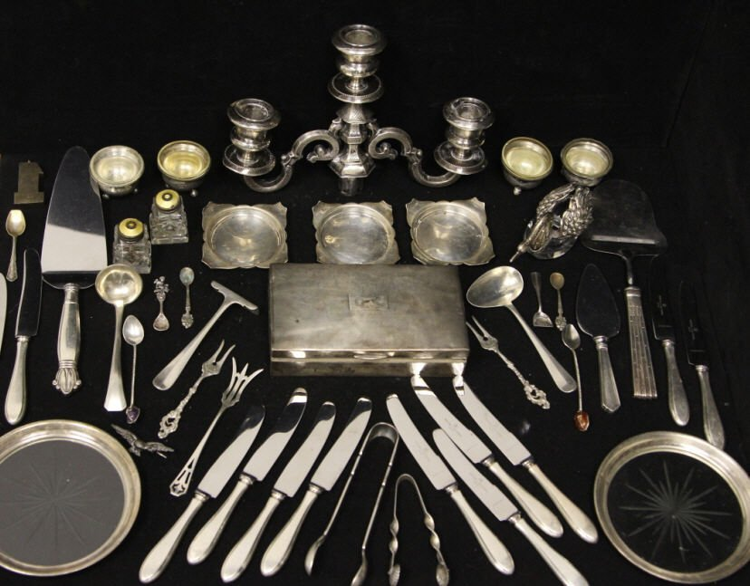 Assorted Sterling & Continental Silver Articles