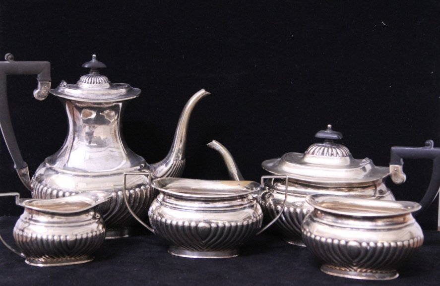 Sheffield English Silver Plate Coffee Tea Service