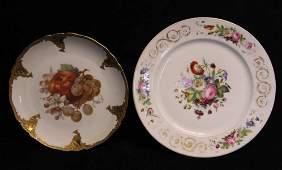 Antique Continental & Old Paris Porcelain Plates