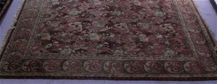 Vintage Oriental Style Hand Woven Indian Rug