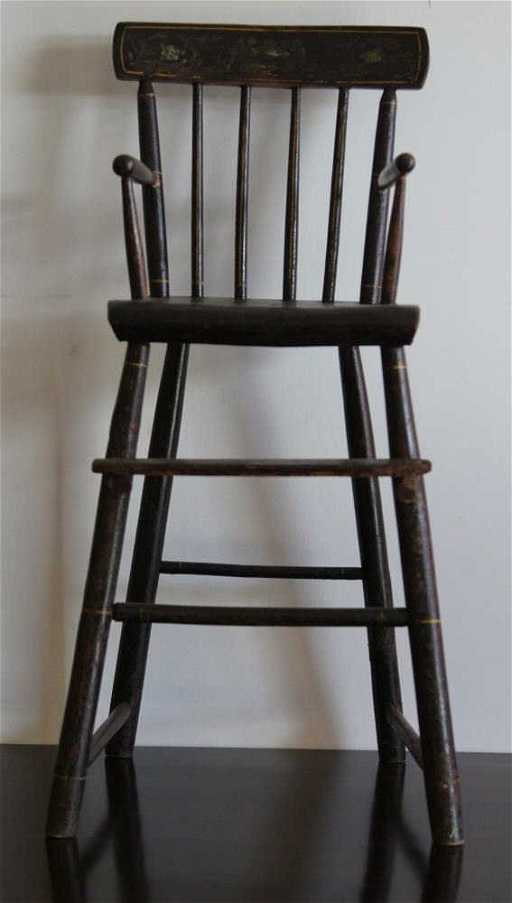 - Antique Early American Child's High Chair