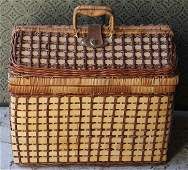 Vintage Picnic Basket Filled  w Luncheon Service