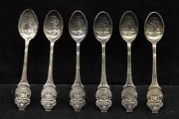 Vintage Continental Souvenir Rolex Bucherer Spoons