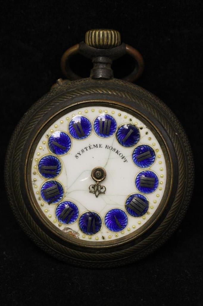 Antique Systeme Roskopf Pocket Watch