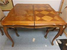 Vintage Parquet Card Table Dining Table
