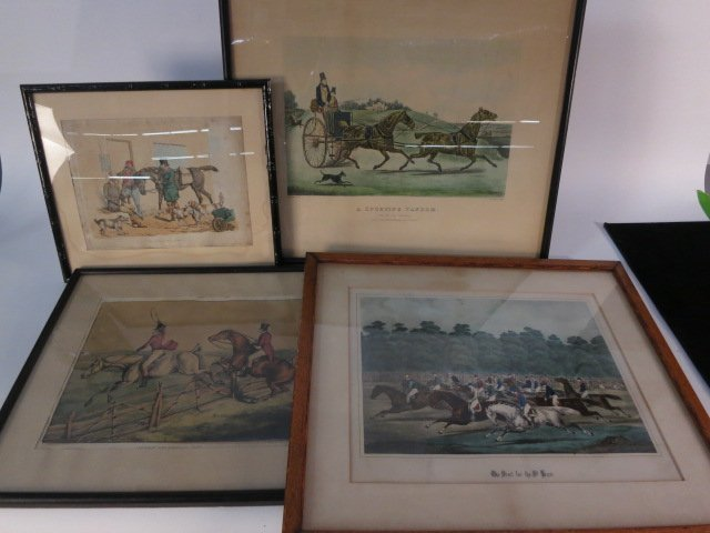 Set 6 English and French Hunting Prints