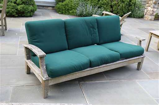GLOSTER Teak Outdoor Sofa with Cushions