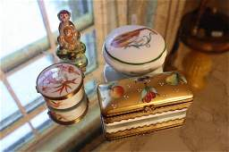 Group LIMOGES and French Porcelain boxes