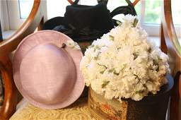 Set of Nine vintage and antique hats and hat boxes