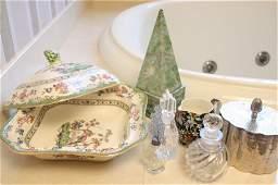 VIntage Table  Articles porcelain crystal SP
