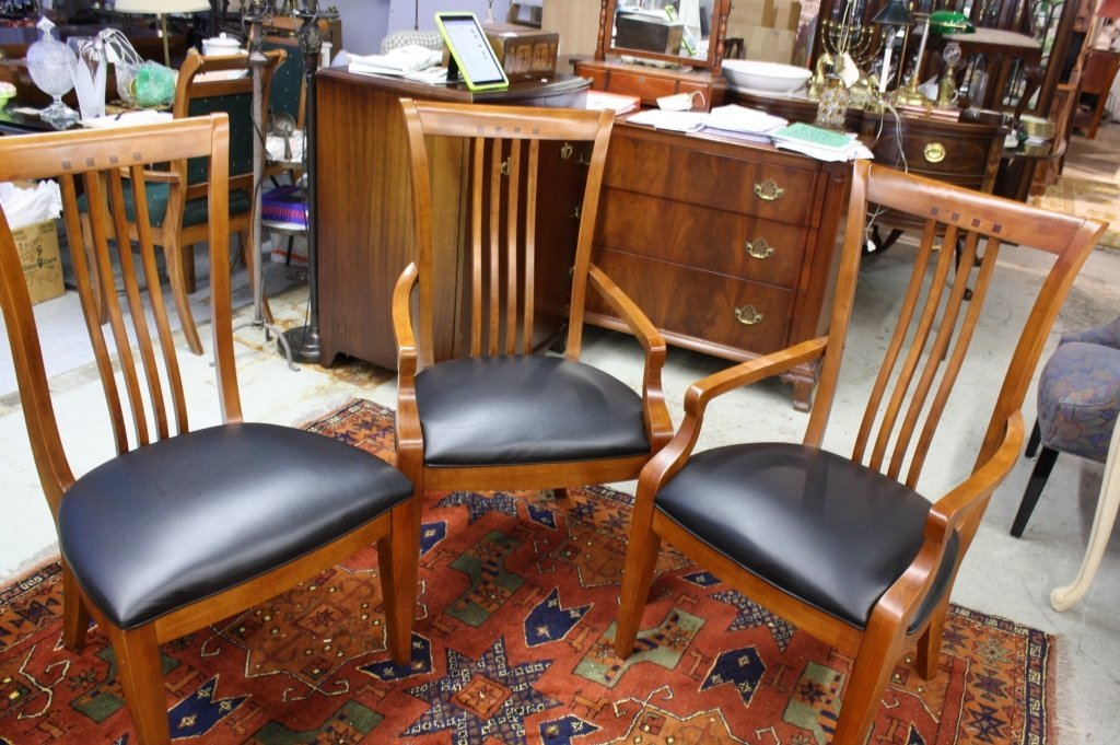 THOMASVILLE set of 8 cherry dining room chairs