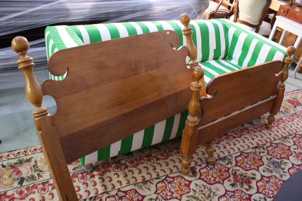 Carved Maple Twin size Bed