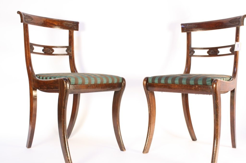 Pair of English Carved Side Chairs C 1870