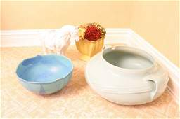 Pottery group lot blue white yellow Ceramics