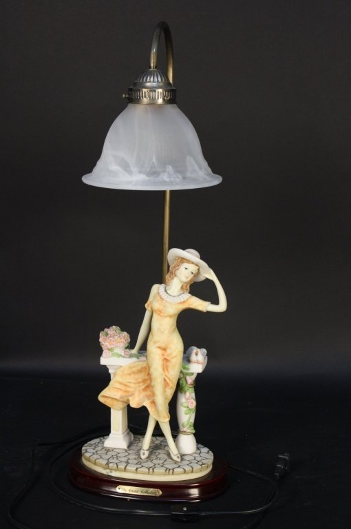 Victorian figurine Table lamp Crosa Collection