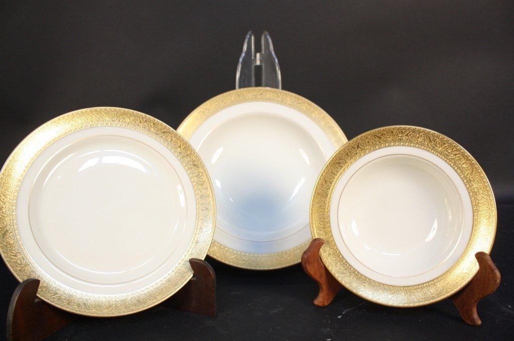 Gold rimmed Lenox china dinner set - 2