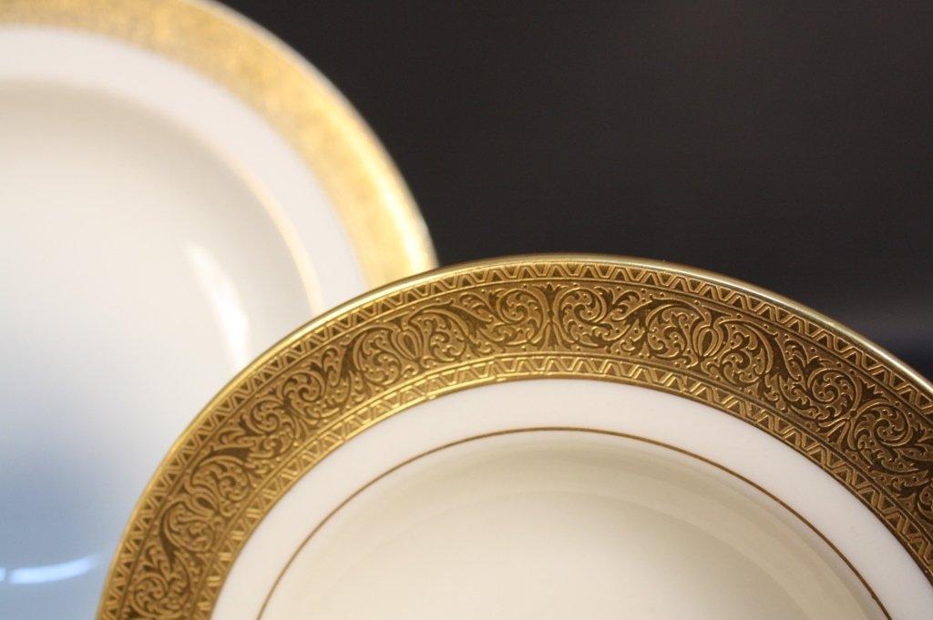 Gold rimmed Lenox china dinner set - 3