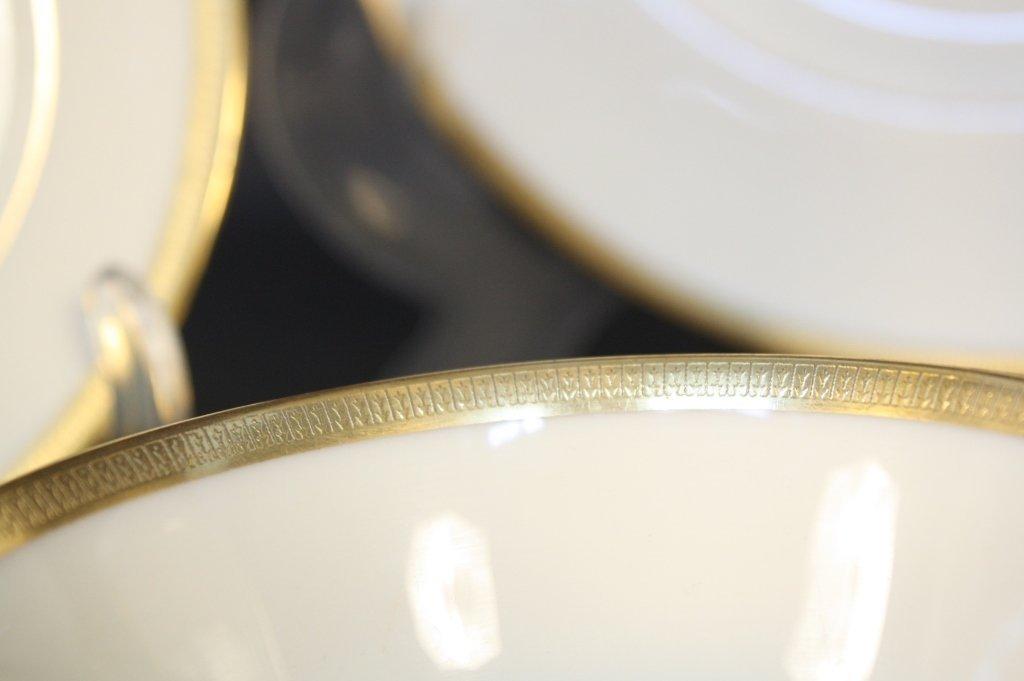 Gold rimmed Lenox china dinner set - 7