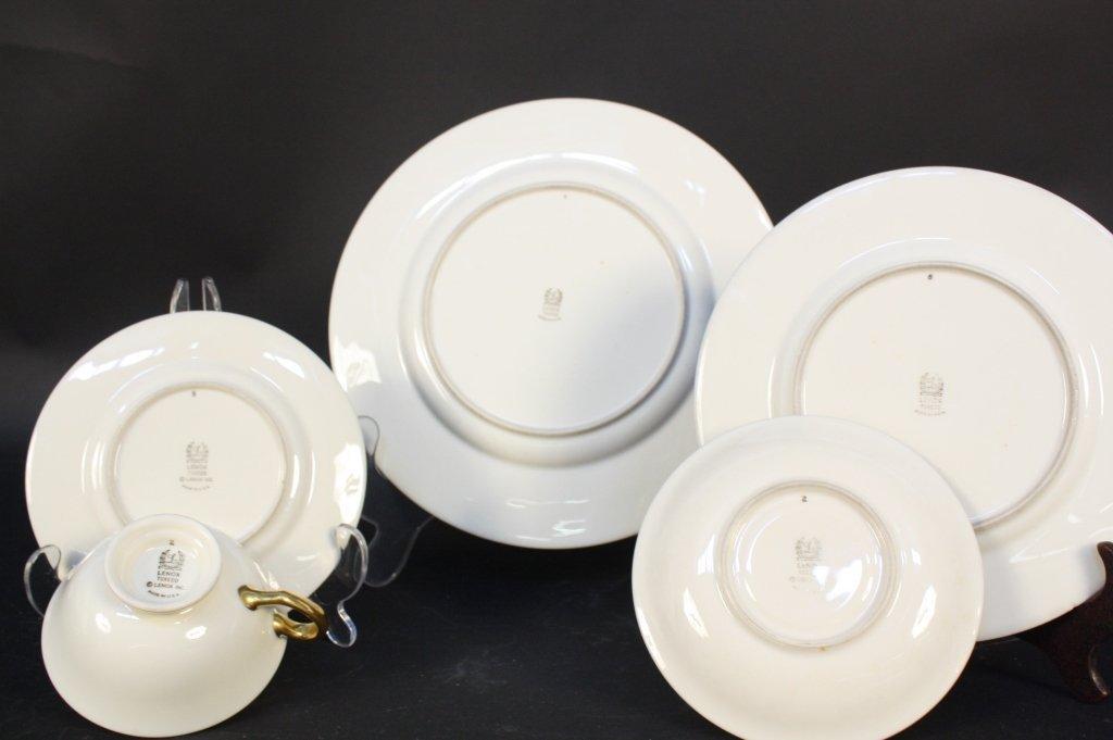 Gold rimmed Lenox china dinner set - 8