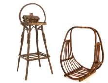 2 Adirondack Hand Made chairside pieces