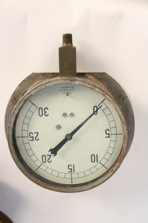 4 Antique Steam Gauges and Weather  Instruments - 3