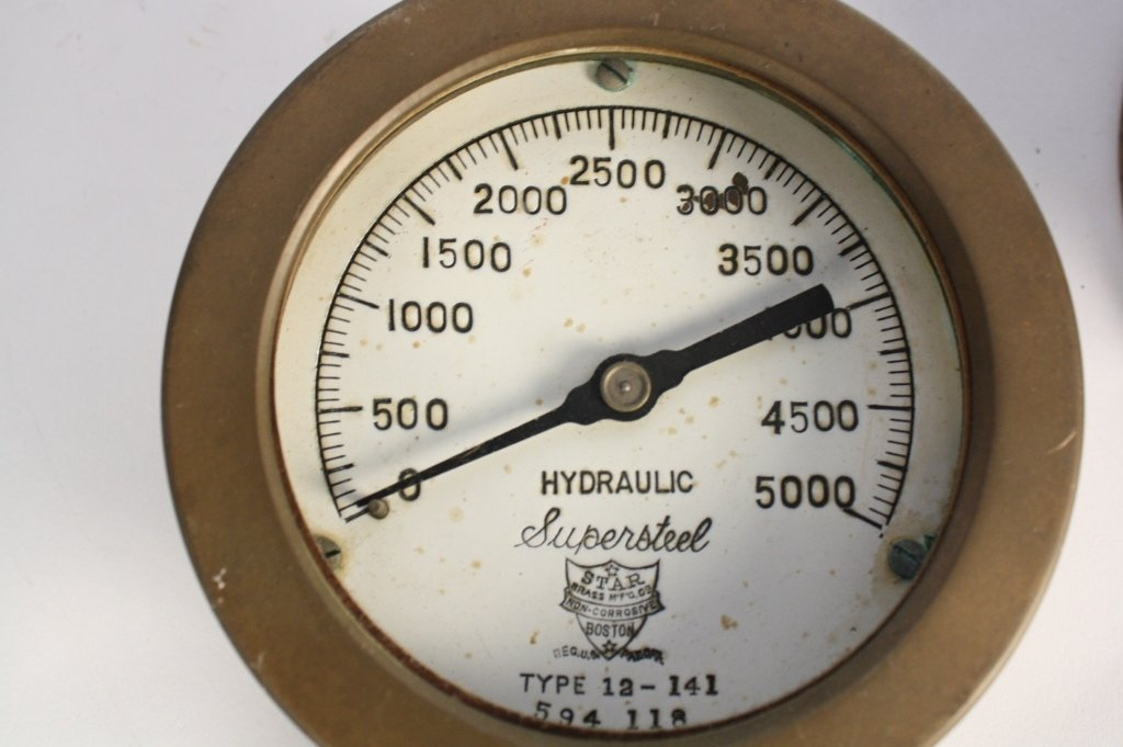 4 Antique Steam Gauges and Weather  Instruments - 6