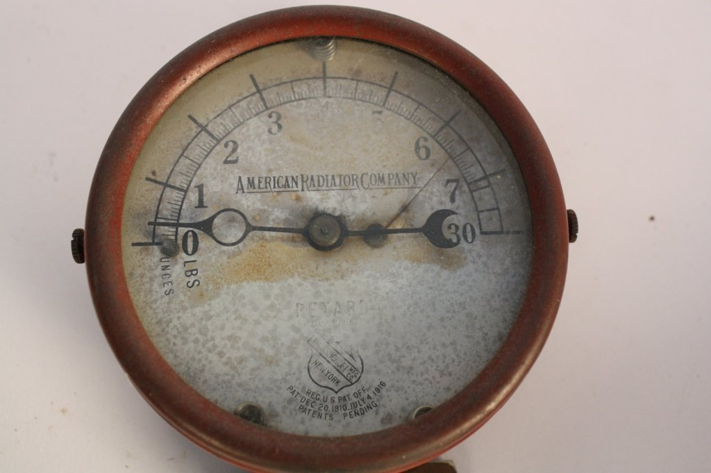 4 Antique Steam Gauges and Weather  Instruments - 8