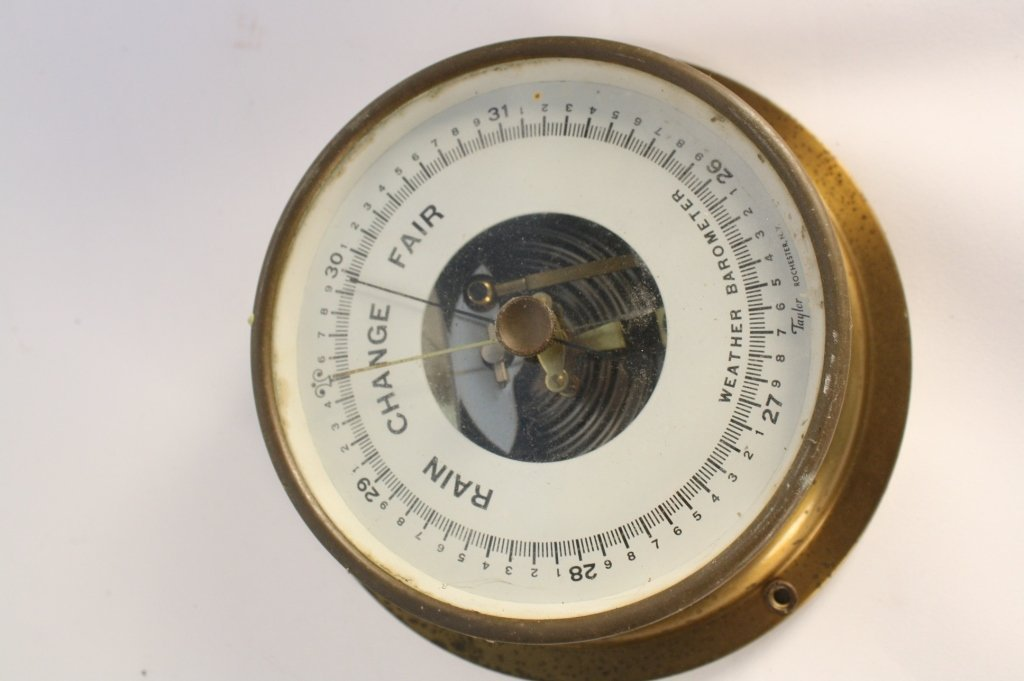 4 Antique Steam Gauges and Weather  Instruments - 9