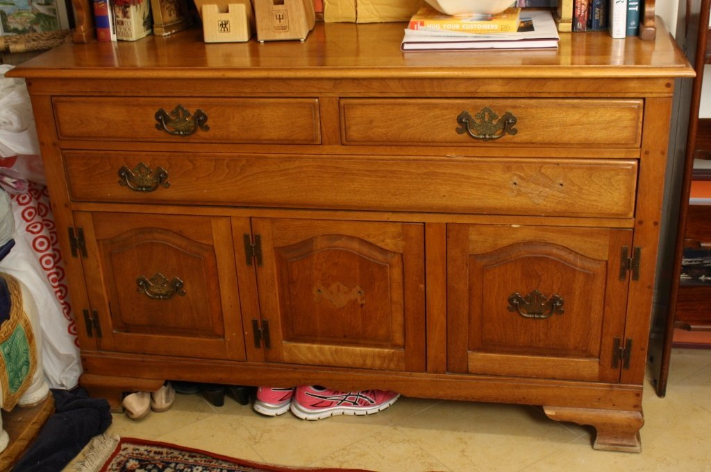 Vermont Made Vintage Maple Step Back Hutch - 3