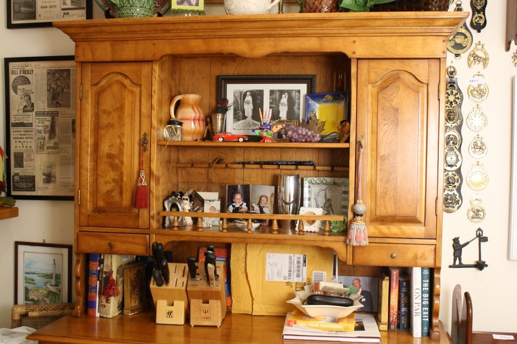 Vermont Made Vintage Maple Step Back Hutch - 4