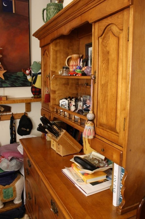 Vermont Made Vintage Maple Step Back Hutch - 5