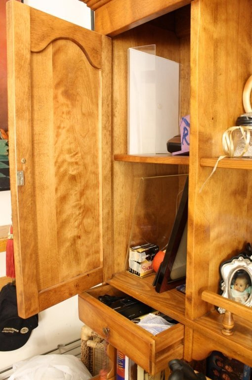 Vermont Made Vintage Maple Step Back Hutch - 6