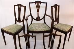 Set of 5 Mahogany Hepplewhite Chairs