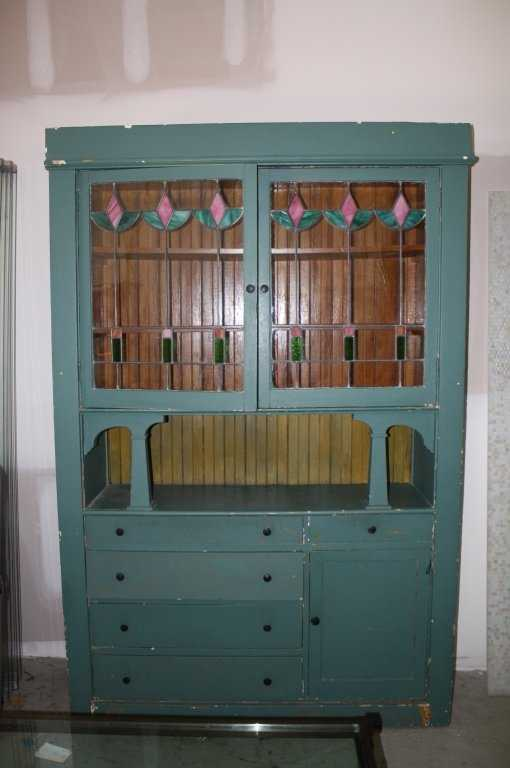 - Hand Painted, Antique China Cabinet