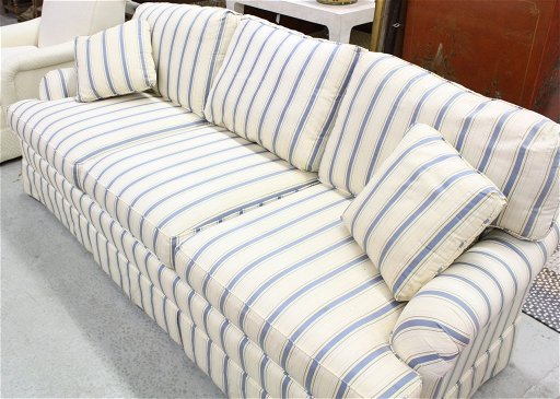 Incredible Hertiage Blue And White Stripe Sofa Creativecarmelina Interior Chair Design Creativecarmelinacom