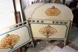 Pair Antique Cottage Style ANtique Beds