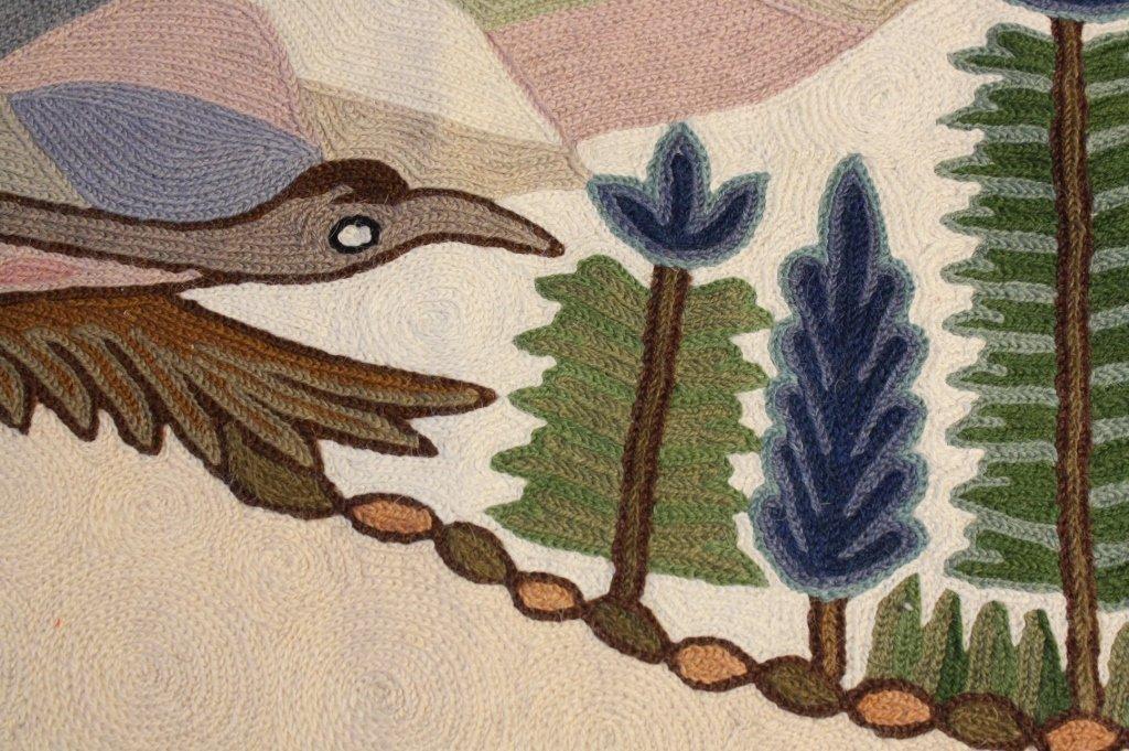Indian Chain Stitch Animal Scene Tapestry