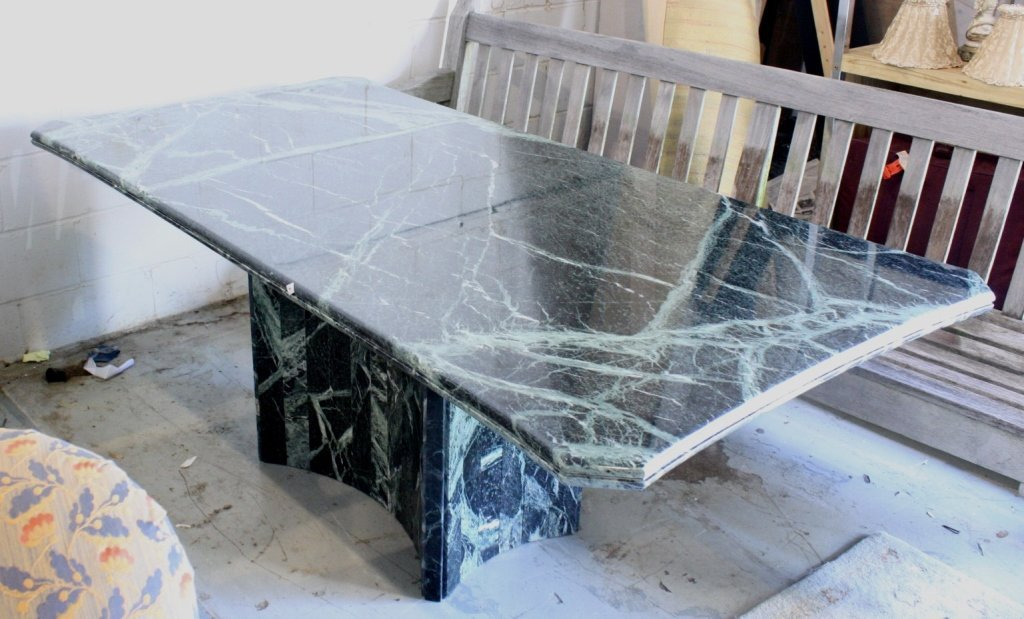 Modern Marble Pedestal Dining Table
