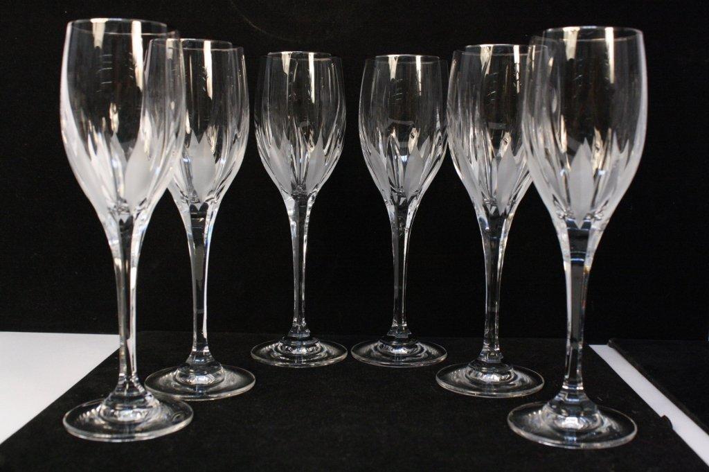 Set 6 Champagne Bosnian Crystal Flutes