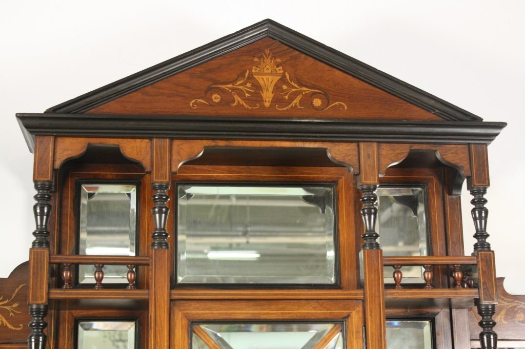 Antique Victorian Rosewood and Satinwood display
