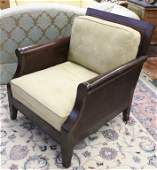 POTTERY BARN Wood and suede Club Chair