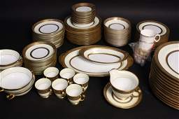 24 KT GOLD and White China Set Made in Japan