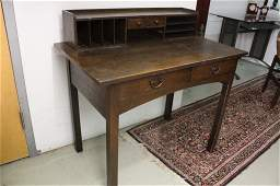 Labeled GUSTAV STICKLEY Desk and Chair