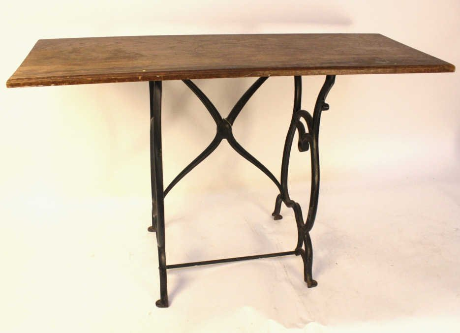 Vintage Reclaimed Wood Top Console Table