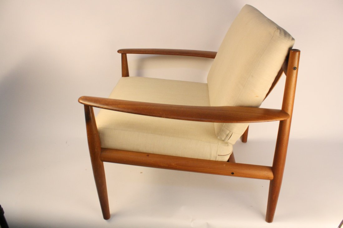 Pair GRETE JALK Teak Lounge Chairs c.1960s