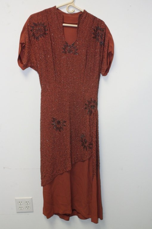 Set of Vintage Couture Beaded Dresses