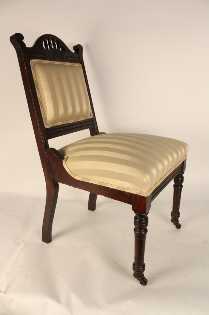 Mahogany Victorian Upholstered Chair