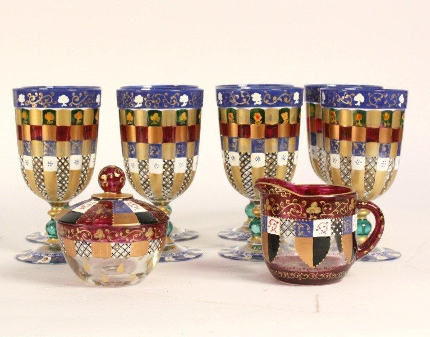 DIENA GIAKAZOVA Painted Glasses Set of 10